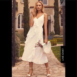 Hideaway White Sleeveless Midi Dress